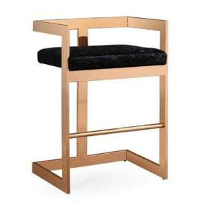 Bar Stool   TOV Furniture   Mid Century Modern   Furniture   The     26 in  Marquee Black Velvet Counter Stool