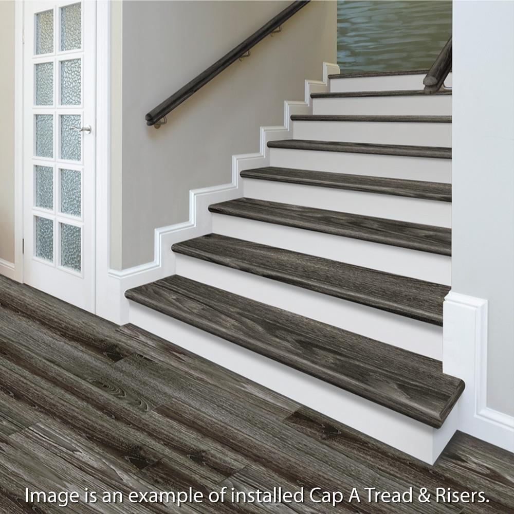 Cap A Tread Ocala Oak Chiffon Lace Oak Salt Shore Wood 47 In L X | White Oak Stair Treads Home Depot | Risers | Red Oak Retread | Flooring | Stair Handrail | Landing Tread
