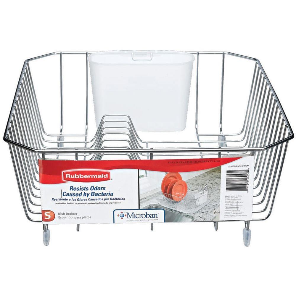 rubbermaid microban small chrome sink