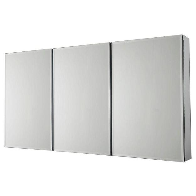pegasus 48 in. w x 26 in. h frameless recessed or surface-mount tri
