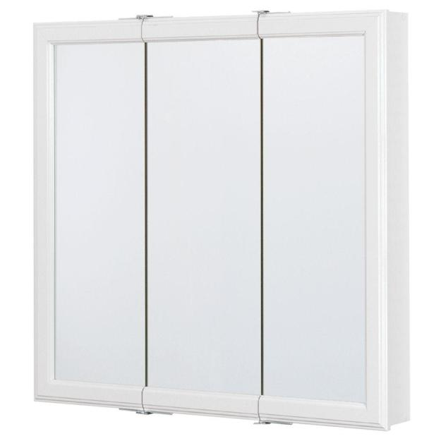 glacier bay 30 in. w x 30 in. h framed surface-mount tri-view