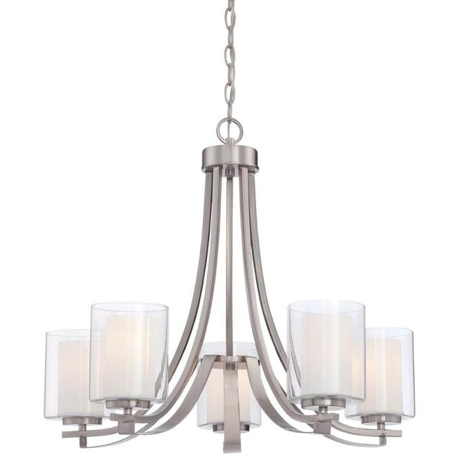 Minka Lavery Parsons Studio 5 Light Smoked Iron Chandelier 4105 172 The Home Depot