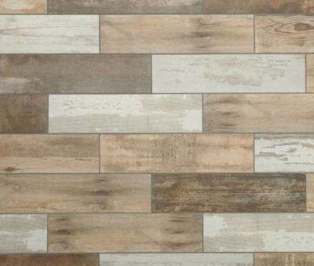 Montagna Wood Vintage Chic  In X  In Porcelain Floor And Wall Tile