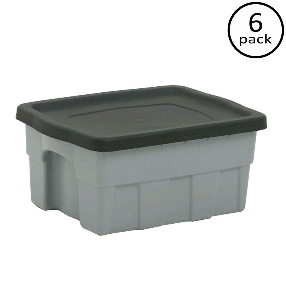Top 100 Gallon Clear Storage Bins - gray-centrex-plastics-storage-bins-totes-949193-64_1000  Image_403828.jpg