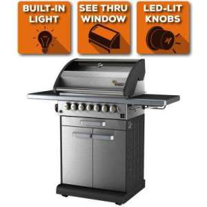 Cast Iron   Propane Grills   Gas Grills   The Home Depot 4 Burner Liquid Propane Fingerprint Resistant Grill with Warming Drawer    Side Burner in Stainless