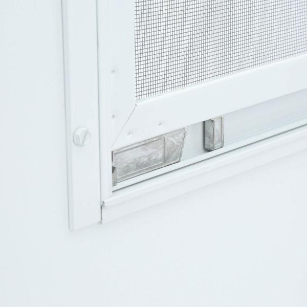 Emco 30 In X 80 In 100 Series White Self Storing Storm Door E1ss 30wh The Home Depot