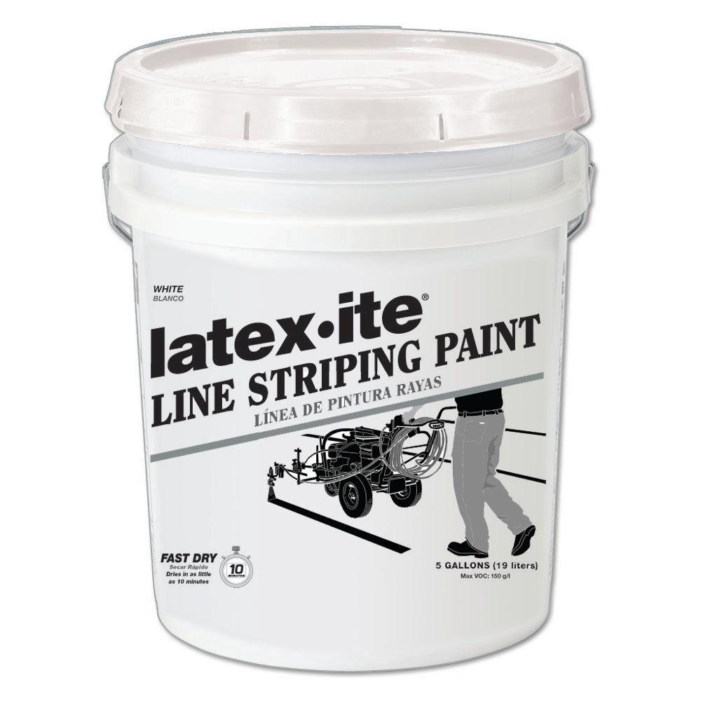 Latex Ite 5 Gal White Line Striping Paint 5030 The Home Depot