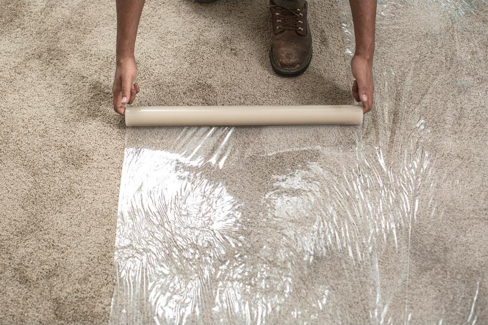 Surface Shields 24 In X 50 Ft Carpet Protection Self Adhesive | Sticky Carpet For Stairs | Self Adhesive | Mat | Sticky Bottom | Flooring | Anti Slip