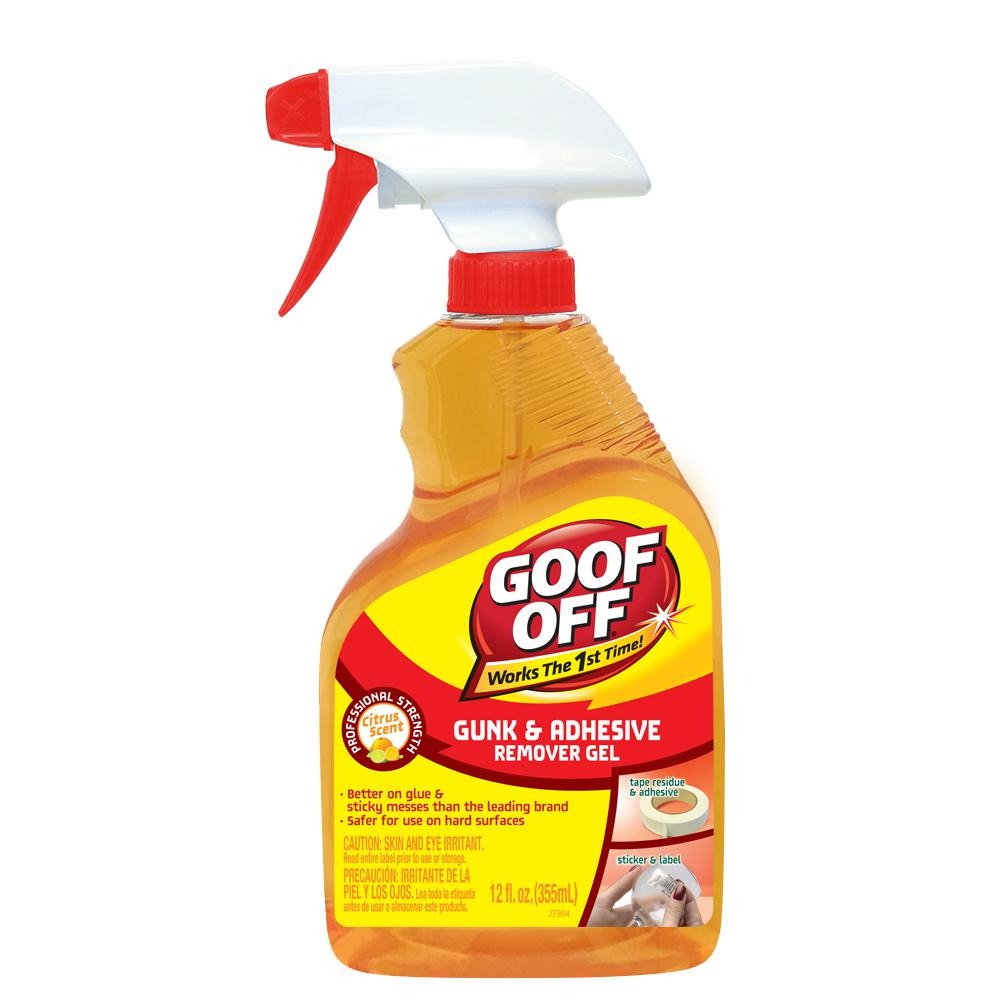 Goof Off 12 Oz Goo And Adhesive Remover Spray Gel Trigger