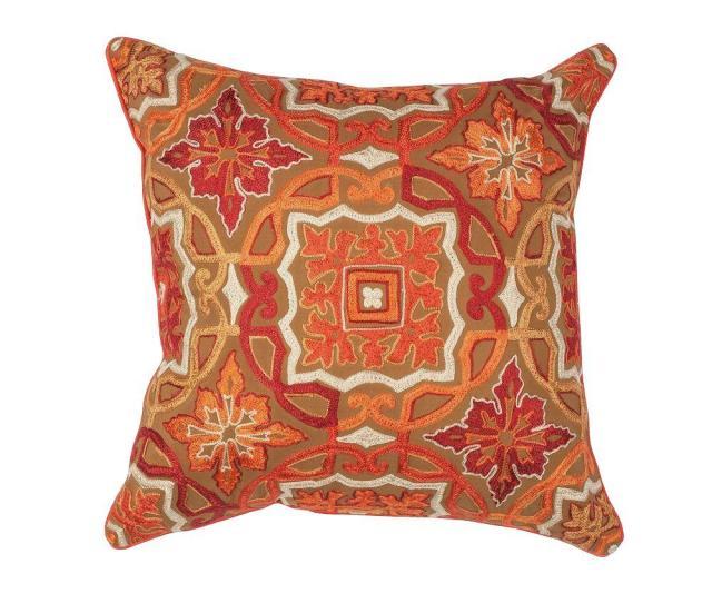 Kas Rugs Rumor Brown Orange Decorative Pillow