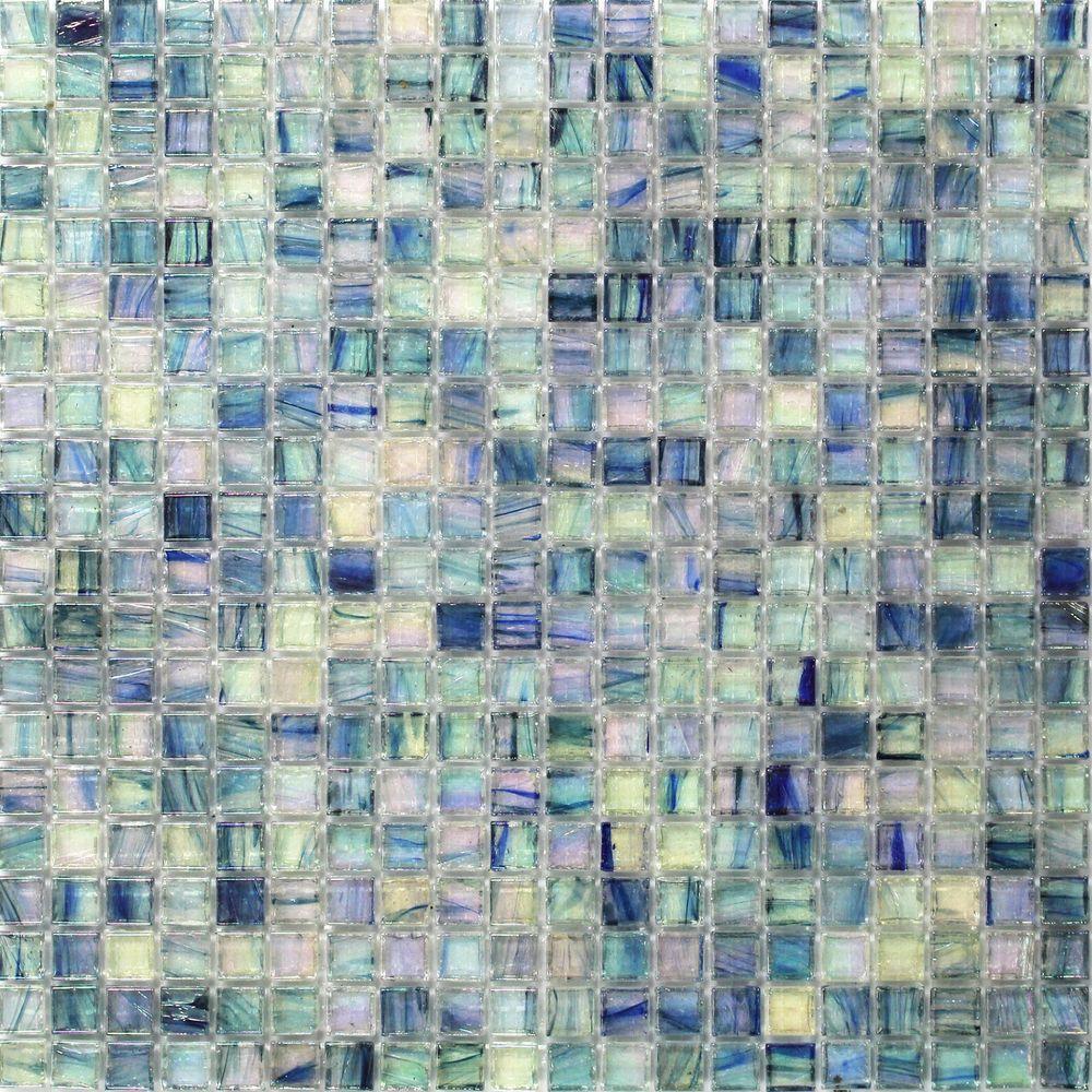 Splashback Tile Breeze Blue Ocean 12 34 In X 12 34 In X 6 Mm Glass Mosaic Tile