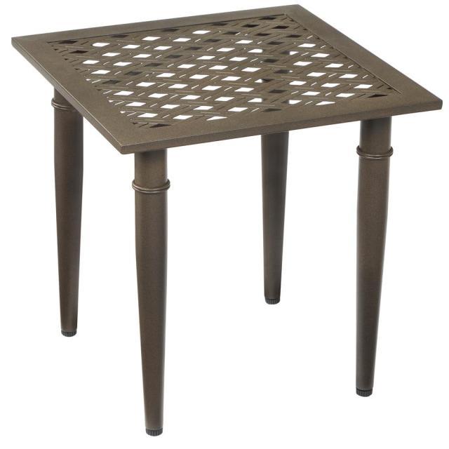 hampton bay oak cliff metal outdoor side table-176-411-20et - the