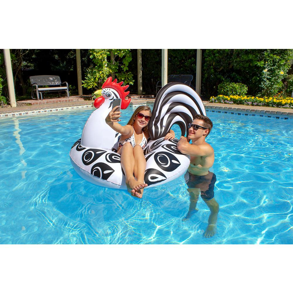 Poolmaster 48 In Rooster Swimming Pool Float Party Tube