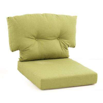 charlottetown green bean replacement 2 piece outdoor lounge chair cushion