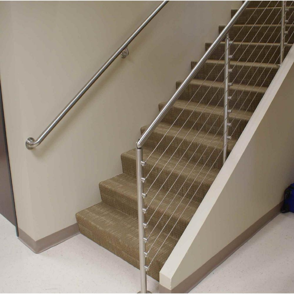 Iam Design 4 Mm 5 32 In Dia X 328 Ft 316 Stainless Steel   Steel Cable Stair Railing   Diy   White   Balcony   Steel Wire   Industrial
