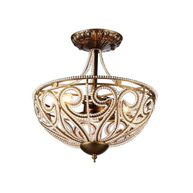 Warehouse Of Tiffany Drake Modern Roman 3 Light Antique Bronze Indoor Chandelier With Shade Rl7971d The Home Depot