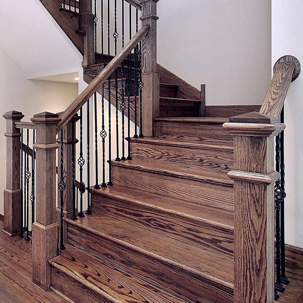 Stair Parts 44 In X 1 2 In Matte Black Single Basket Metal | Iron Stair Railing Home Depot | Aluminum Stair | Interior | Rail Kit | Deck Stair | Aluminum Railing