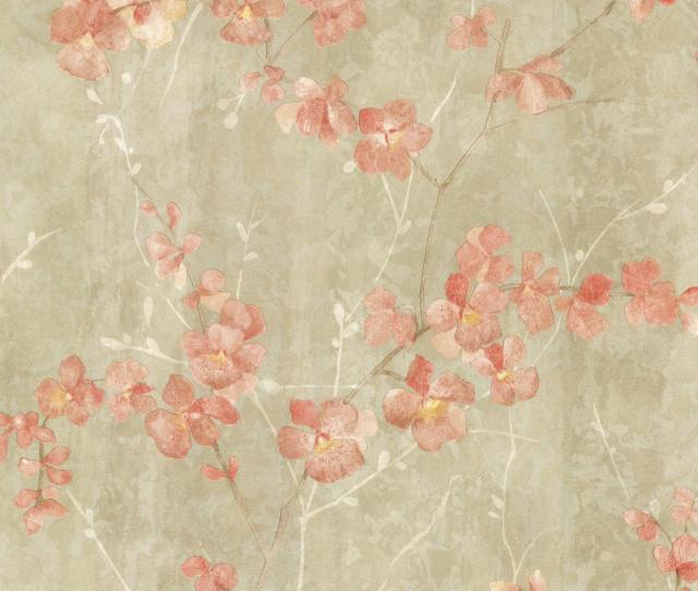 Chapman Green Cherry Blossom Trail Wallpaper