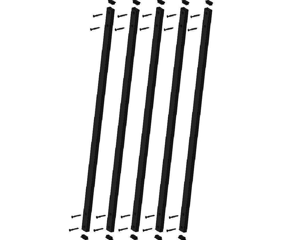 Pegatha 32 1 4 In X 1 In Black Aluminum Face Mount Deck Railing | Home Depot Railing Spindles | Redwood Deck | Stair Railing | Pressure Treated Lumber | Fence | Stair Parts