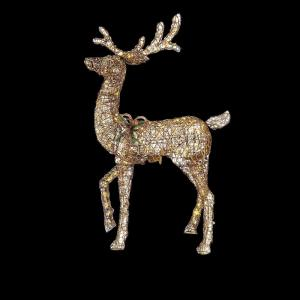 Home Accents Holiday 60 In LED Lighted Gold PVC Animated