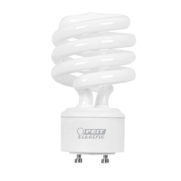 Feit Electric 75W Equivalent Soft White  2700K  Spiral GU24 CFL     Feit Electric 75W Equivalent Soft White  2700K  Spiral GU24 CFL Light Bulb