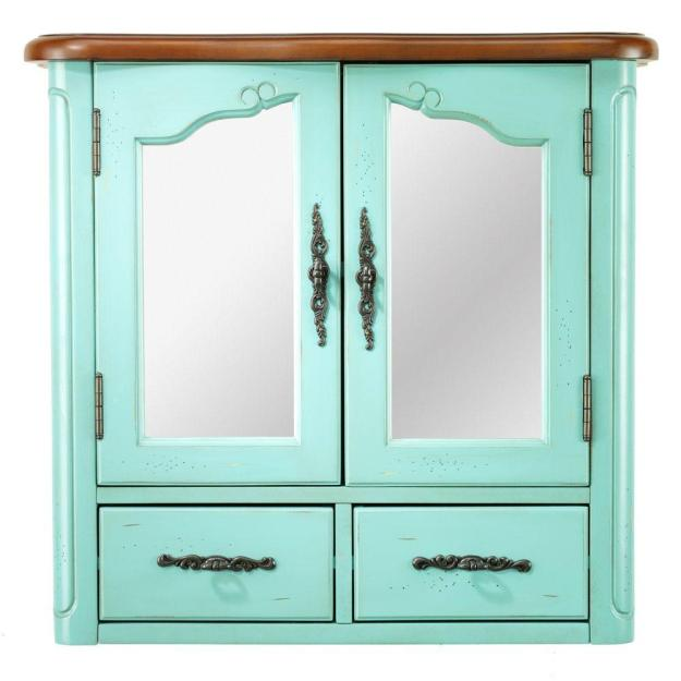 blue - bathroom wall cabinets - bathroom cabinets & storage - the