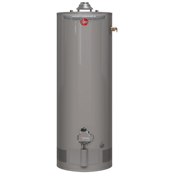rheem performance 40 gal tall 6year 36000 btu natural gas
