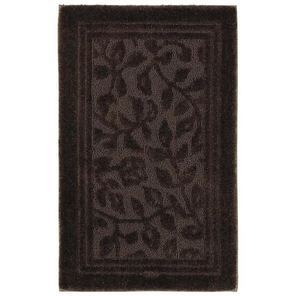 wellington 24 in x 40 in nylon bath rug in chocolate