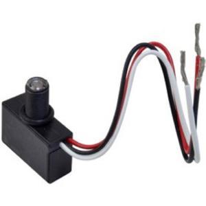 Woods Black Hard Wire Mini Photocell Outdoor Fixtures Dusk
