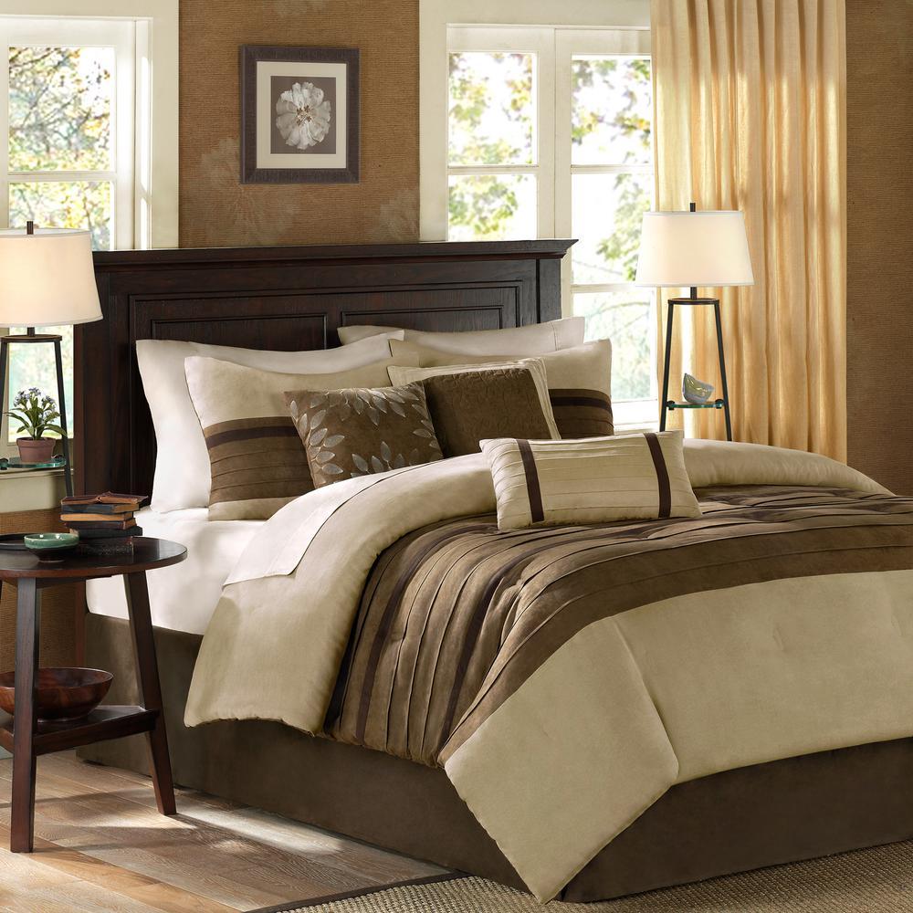 unbranded teagan 7 piece natural king comforter set mp10 302 the home depot