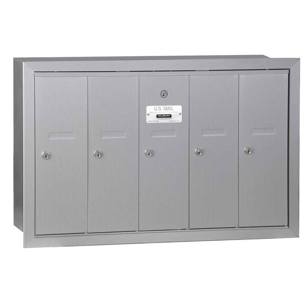 Gibraltar Mailboxes Steel Satin Nickel Mail Slot Ms00sn03