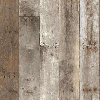 Wood   Special Buys   Brown   Wallpaper   Decor   The Home Depot Weathered Repurposed Wood Wallpaper