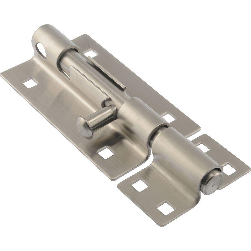 Hardware Essentials 5 In Stainless Steel Extra Heavy Gate
