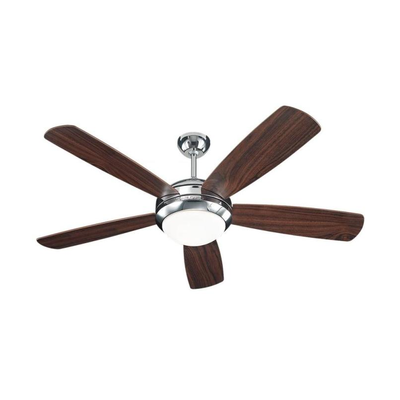 Balance ceiling fan 5 blade lightneasy monte carlo discus 52 in polished nickel ceiling fan with mozeypictures Choice Image
