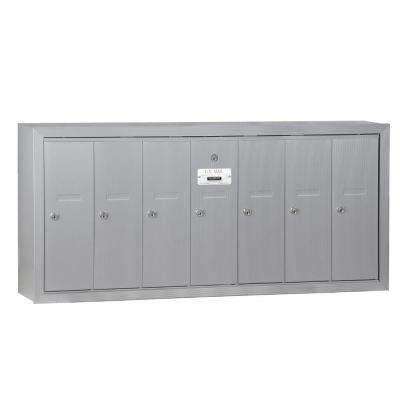 Aluminum Surface Mounted Usps Access Vertical Mailbox With 7 Door