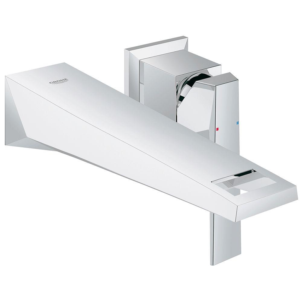grohe allure brilliant double hole single-handle wall-mount vessel