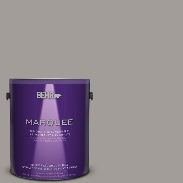 BEHR MARQUEE 1 gal   PPU18 15 Fashion Gray One Coat Hide Eggshell     BEHR MARQUEE 1 gal   PPU18 15 Fashion Gray One Coat Hide Eggshell