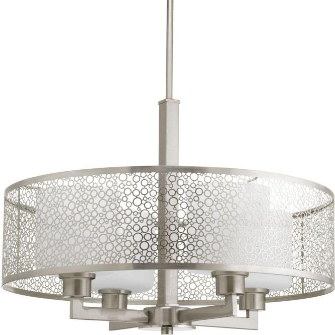 Progress Lighting Mingle Collection 4 Light Brushed Nickel Pendant