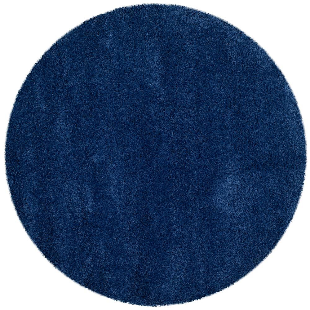 safavieh milan shag navy 3 ft x 3 ft round area rug sg180 7070 3r the home depot