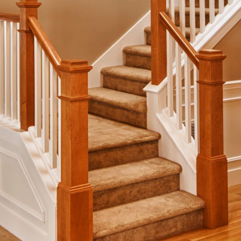 Stair Parts 4091 55 In X 6 1 4 In Poplar Box Newel 4091P 055 | Poplar Stair Treads Home Depot | Hardwood | Baluster | Hand Rail | Wood | Risers