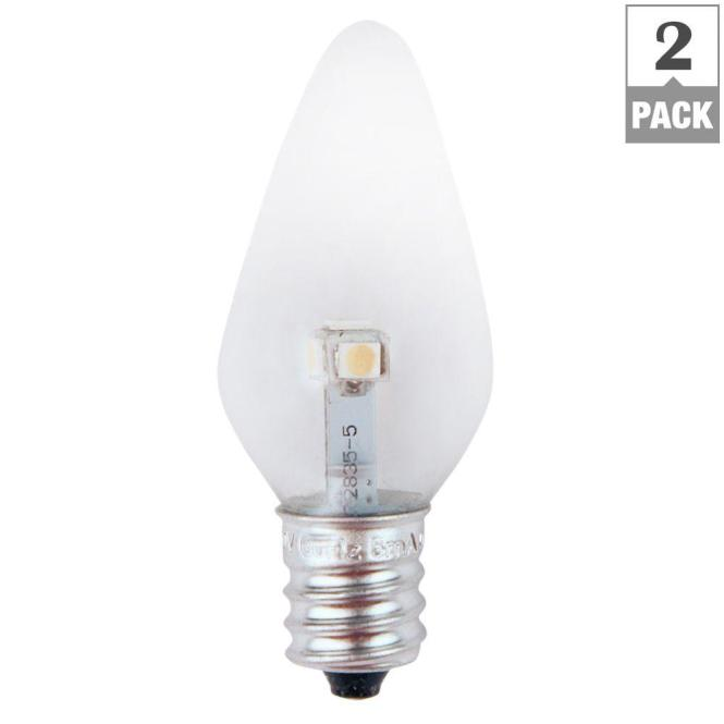 7w Equivalent Bright White Clear C7 Non Dimmable Led Replacement Light Bulb 2