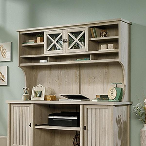 SAUDER Costa Chalked Chestnut Desk Hutch 419958   The Home Depot SAUDER Costa Chalked Chestnut Desk Hutch