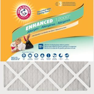null 16 in. x 25 in. x 1 in. Odor Allergen and Pet Dander Control Air Filter (12-Pack)