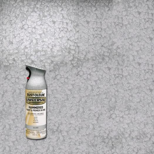 Rust Oleum Universal 12 Oz All Surface Hammered Silver Spray Paint And Primer In
