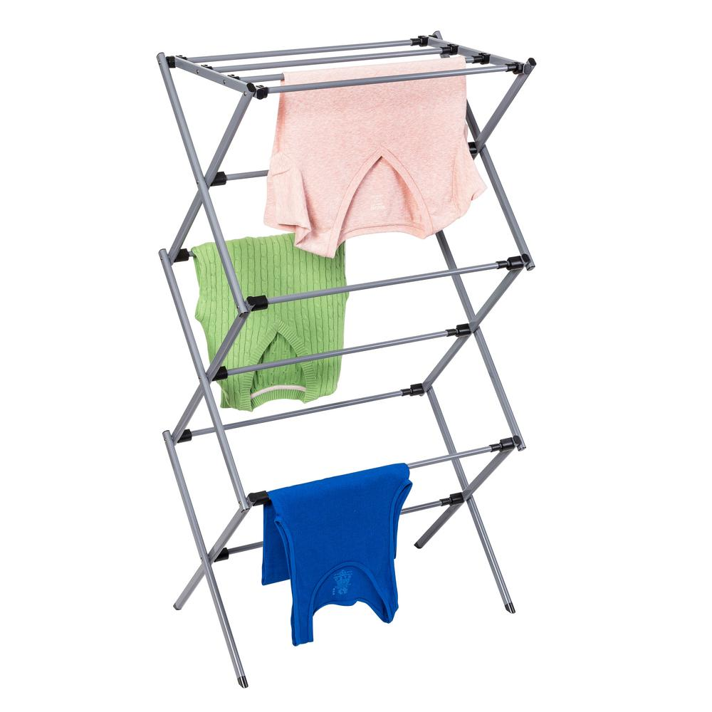 clothes towel dryer silver laundry