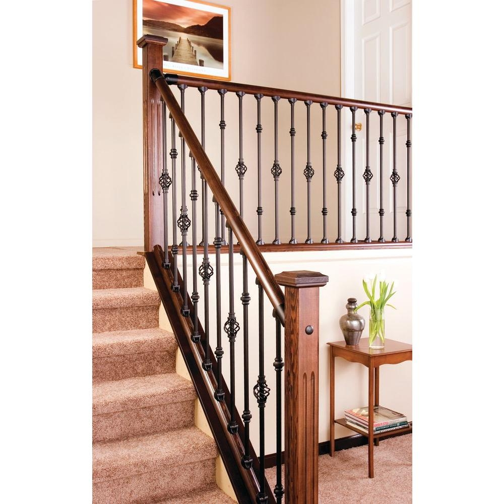 Stair Simple Baluster Basket Al9310B00W The Home Depot   Home Stairs And Railings   Craftsman   Low Cost   Easy Diy   Inexpensive   Beautiful