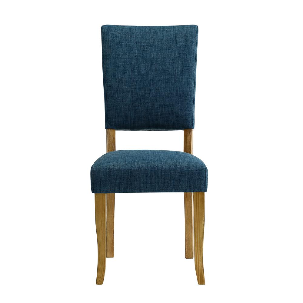 walker edison furniture company open back blue parsons dining chair set of 2 hdh40obp2bu the home depot