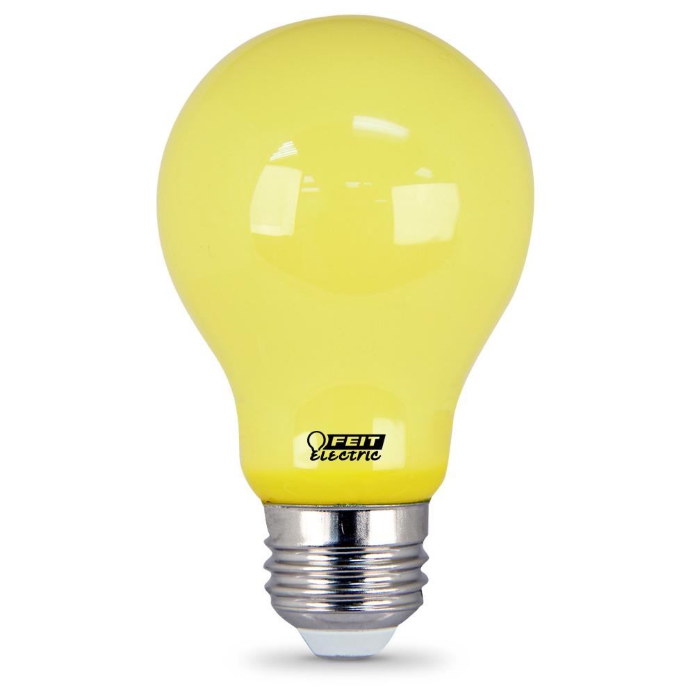 Feit Electric  Watt Equiva T Yellow Colored A Led Bug Light Bulb