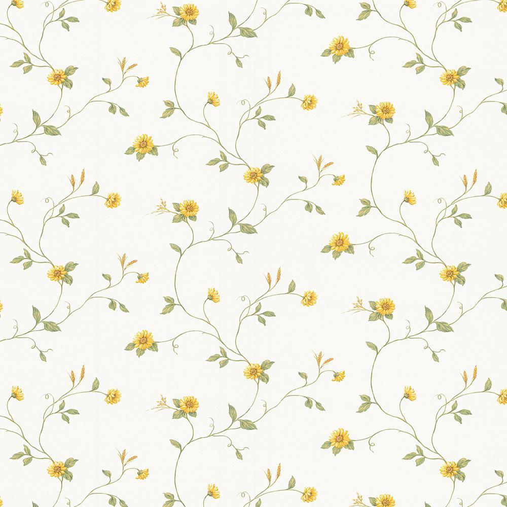 Norwall Mini Sunflower Trail Vinyl Strippable Roll Wallpaper Covers 56 Sq Ft Kv27408 The Home Depot
