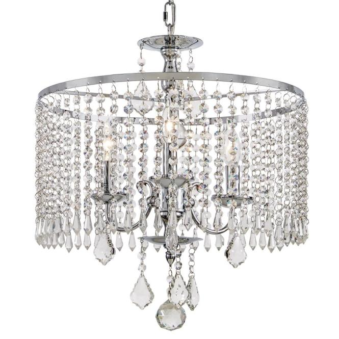 3 Light Polished Chrome Chandelier